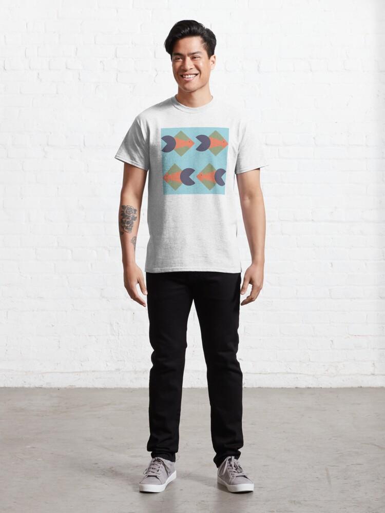 Alternate view of geometric fish Classic T-Shirt