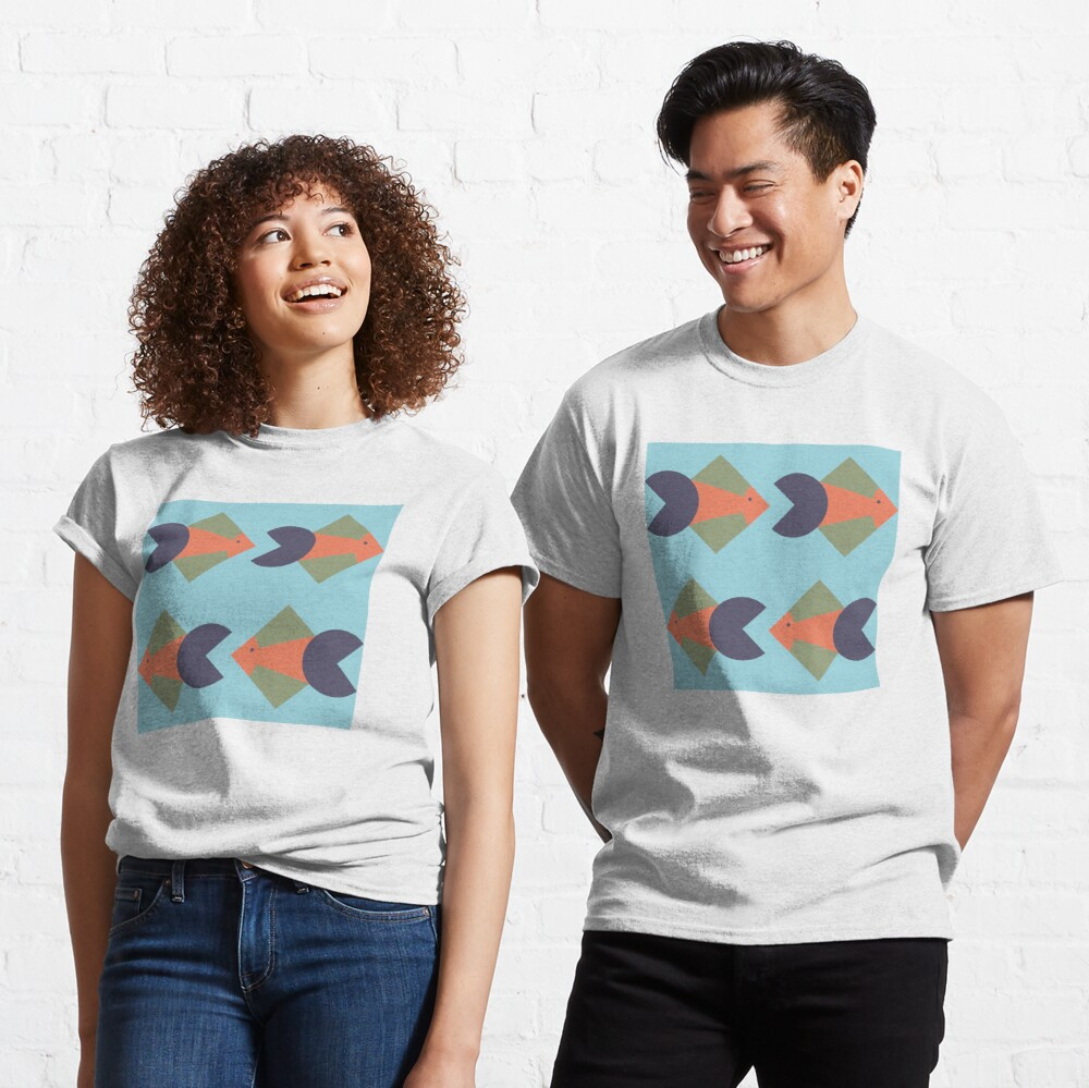 geometric fish Classic T-Shirt