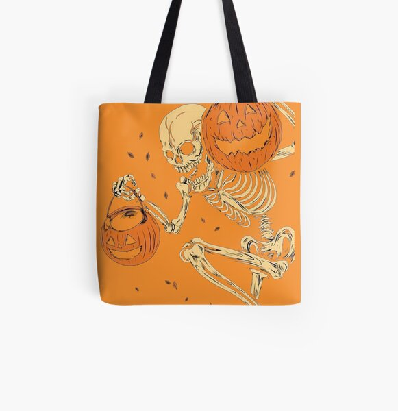 Halloween Skull head All Over Print Tote Bag