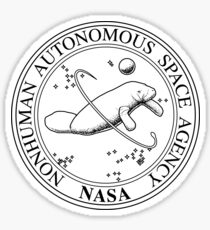 Nonhuman Autonomous Space Agency tumblr seal  Sticker