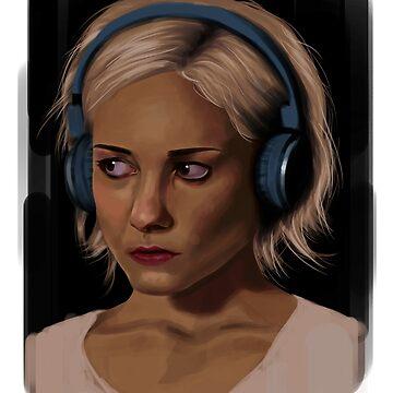 Riley Blue Headphones Portrait Sense8 by Anaelisch