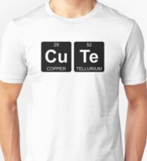 Cu Te - Cute - Periodic Table - Chemistry - Chest T-Shirt