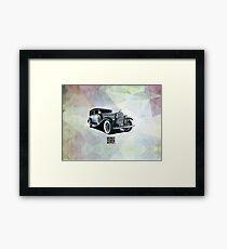 Historic gangster car Framed Print