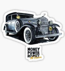 Historic gangster car Sticker