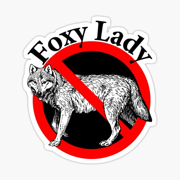 Retro Foxy Lady - Hot Lady!  Sticker