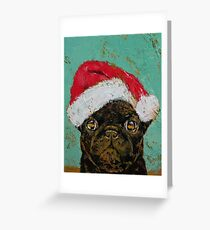 Giant greeting cards redbubble santa pug greeting card m4hsunfo