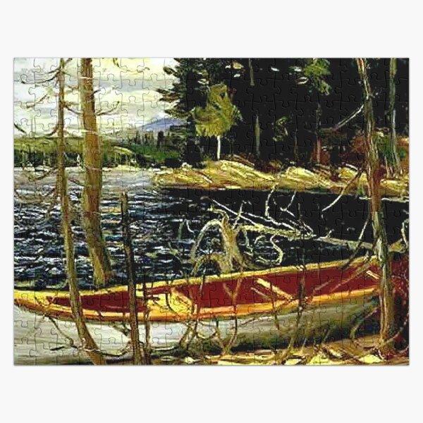 THE CANOE : Vintage 1917 Tom Thomson Algonquin Park Art Print Jigsaw Puzzle