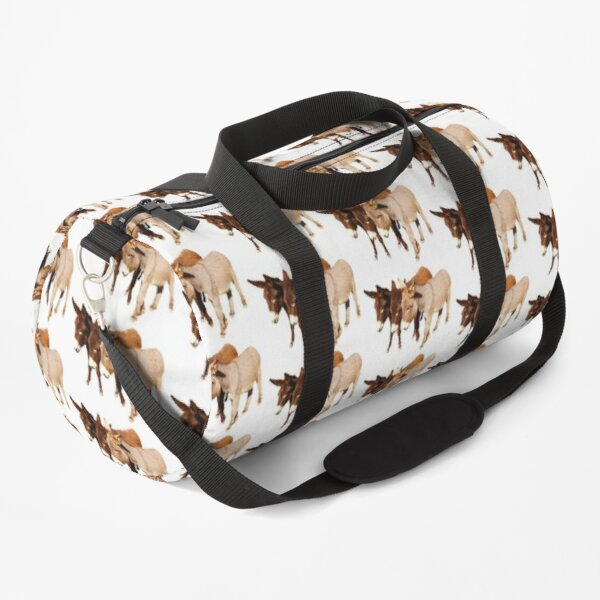 Wild burros, donkeys, wildlife, Wild Burro Buddies Duffle Bag