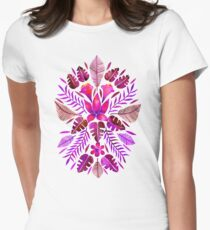 Tropical Symmetry – Magenta Women's Fitted T-Shirt