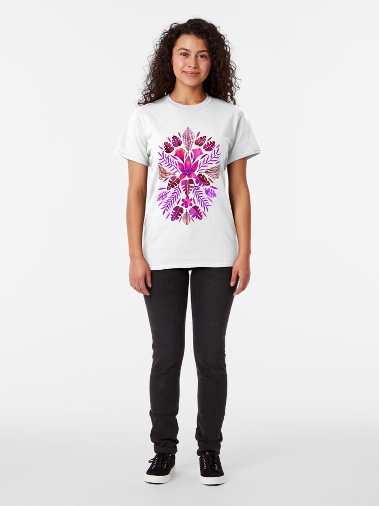 Alternate view of Tropical Symmetry – Magenta Classic T-Shirt