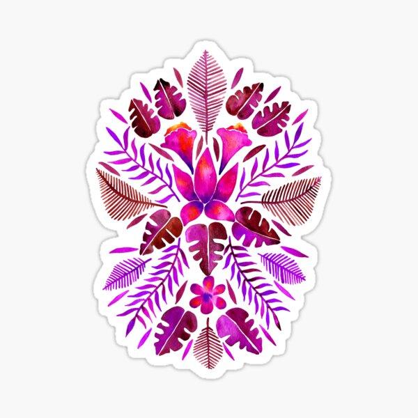 Tropical Symmetry – Magenta Sticker