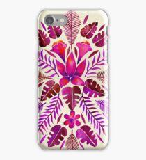 Tropical Symmetry – Magenta iPhone Case/Skin