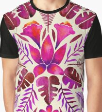 Tropical Symmetry – Magenta Graphic T-Shirt