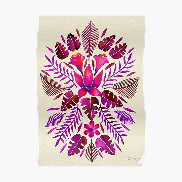 Tropical Symmetry – Magenta Poster
