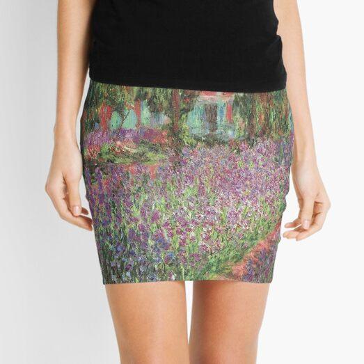 Le Jardin de l'artiste à Giverny(The Artist's Garden at Giverny)- Claude Monet  Mini Skirt