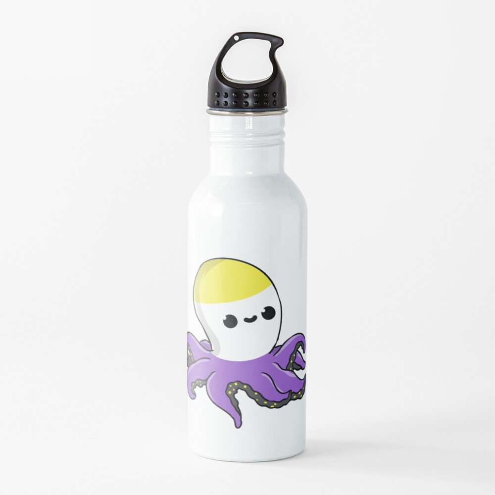 Nonbinary Octopus Nonbinary Pride Water Bottle
