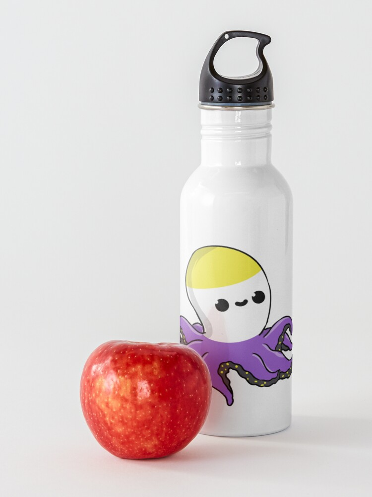 Alternate view of Nonbinary Octopus Nonbinary Pride Water Bottle