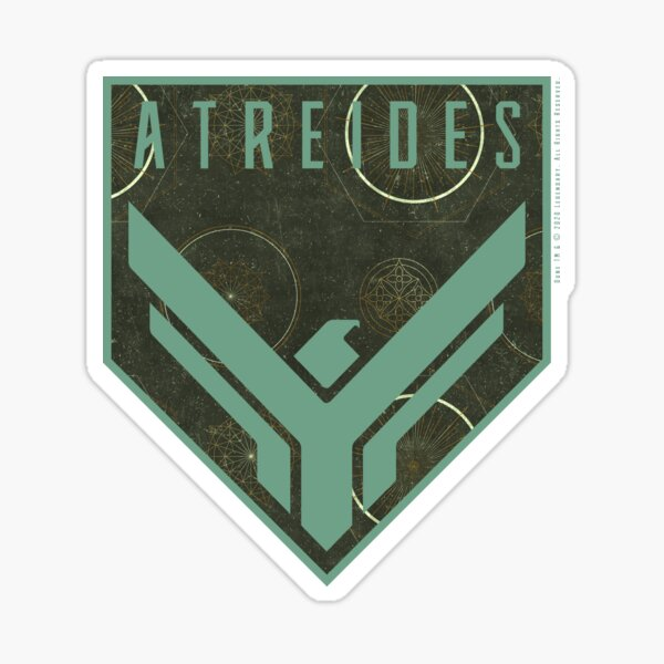 Dune - House Atreides Badge (Light Pattern) - Sticker