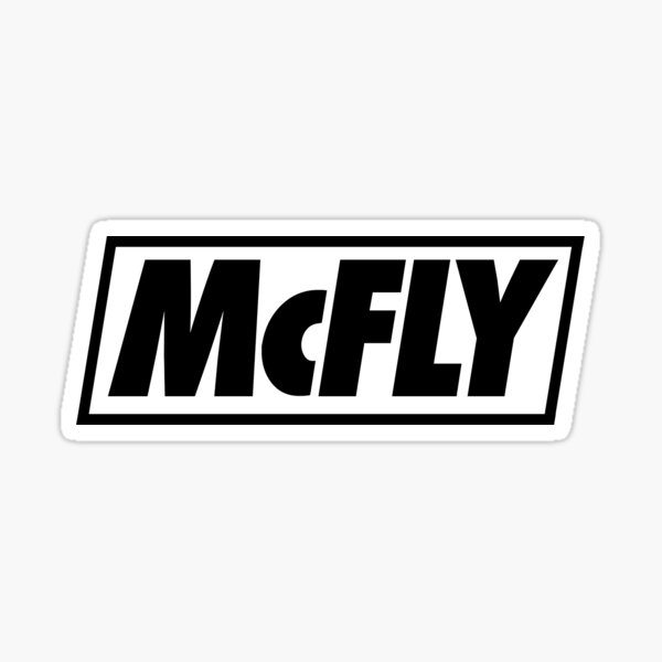 mcfly new logo 2020 in black young dumb thrills Sticker