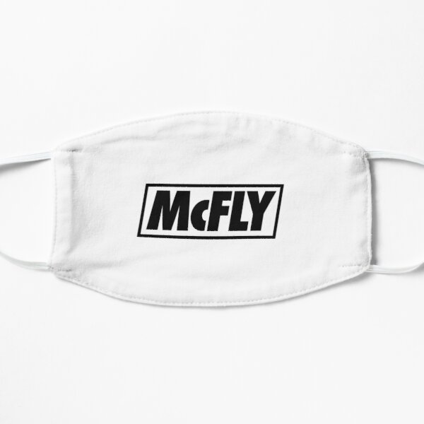 mcfly new logo 2020 in black young dumb thrills Flat Mask