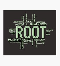 Root Identities - Person Of Interest - Black Photographic Print