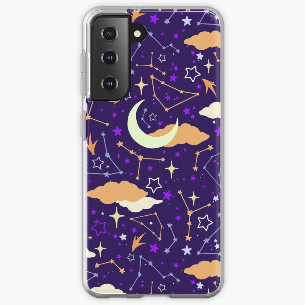 Constellation Stars and Moons in Halloween Colours Case & Skin for Samsung Galaxy