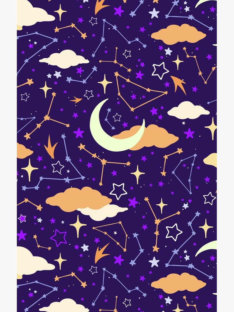 Constellation Stars and Moons in Halloween Colours by evannave