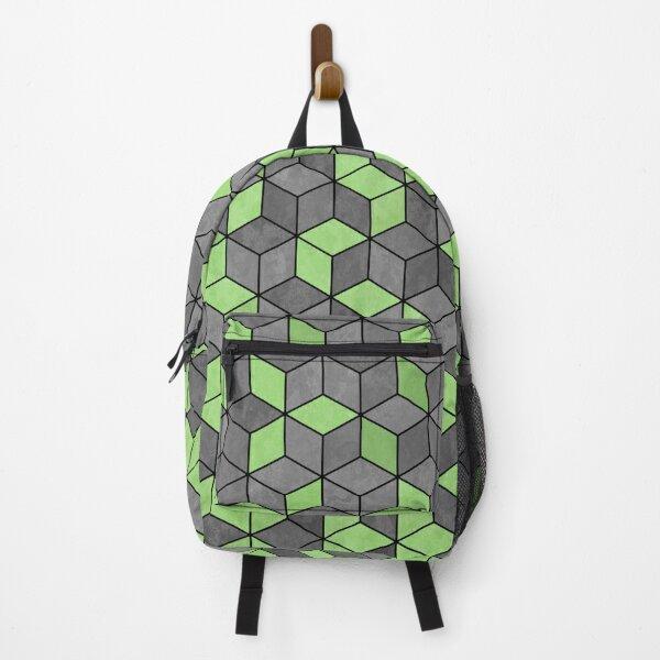 Concrete Cubes - Pastel Mint Green Backpack