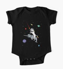 Unicorn Riding Narwhal In Space One Piece - Short Sleeve