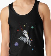 3b0f6221ada2d Unicorn Riding Narwhal In Space Men s Tank Top
