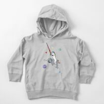 Unicorn Riding Narwhal In Space Toddler Pullover Hoodie