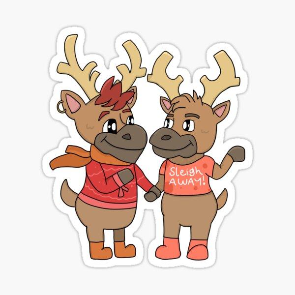 Reindeer Boyfriends Sticker