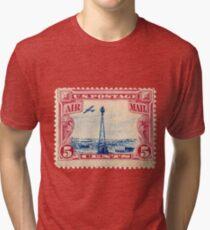 Air Mail Stamp Tri-blend T-Shirt