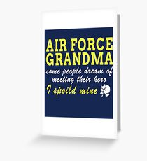 Air Force Grandma Greeting Card