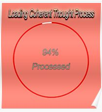 Famous humourous quotes series: Loading Coherent thought process  Poster