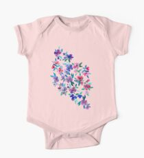 Southern Summer Floral - navy + colors Kids Clothes