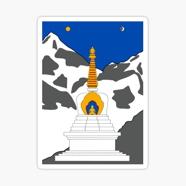 Tibetan Stupa Sticker