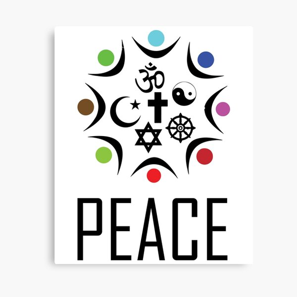 Religions together in Peace. Canvas Print