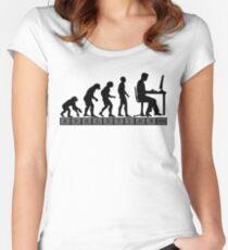 computer evolution Women's Fitted Scoop T-Shirt