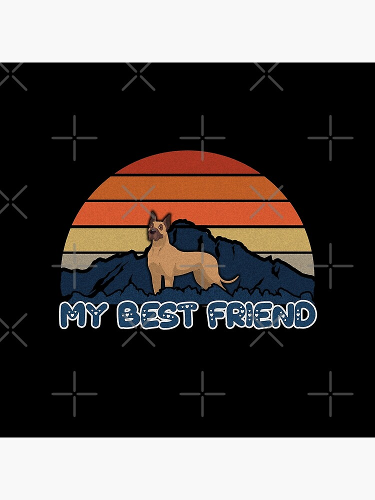 My Best Friend Boxer - German Boxer Dog Sunset Mountain Grainy Artsy Design by dog-gifts