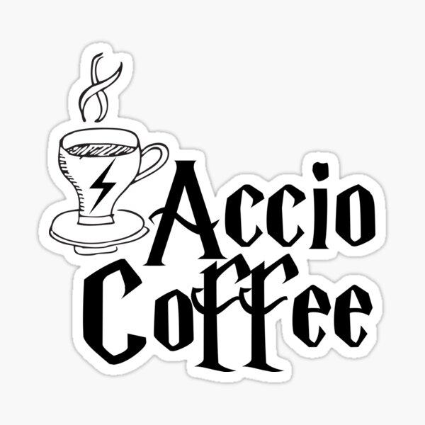 Sort de café Sticker