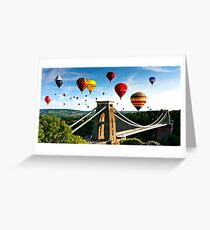 Bristol city balloons Greeting Card