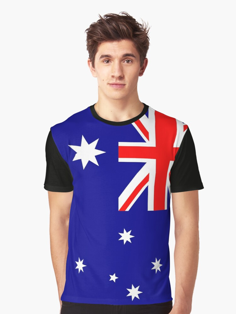 Australia Flag Graphic T-Shirt Front