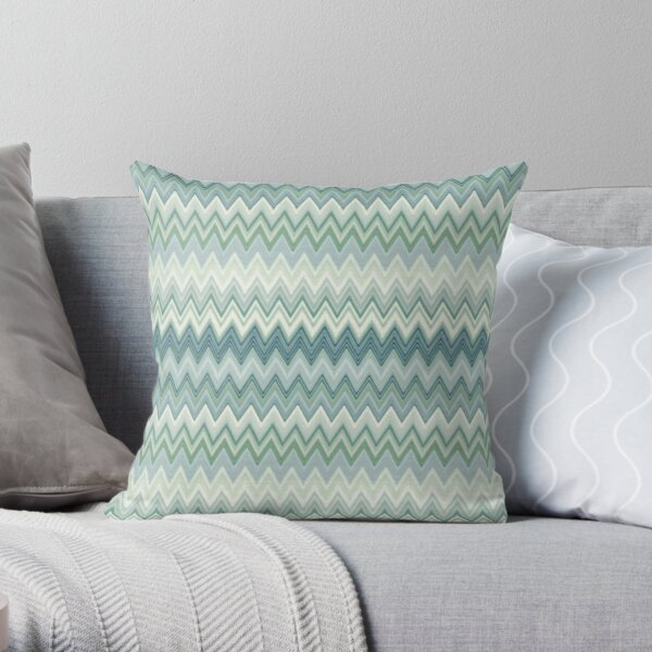Zigzag color design Throw Pillow