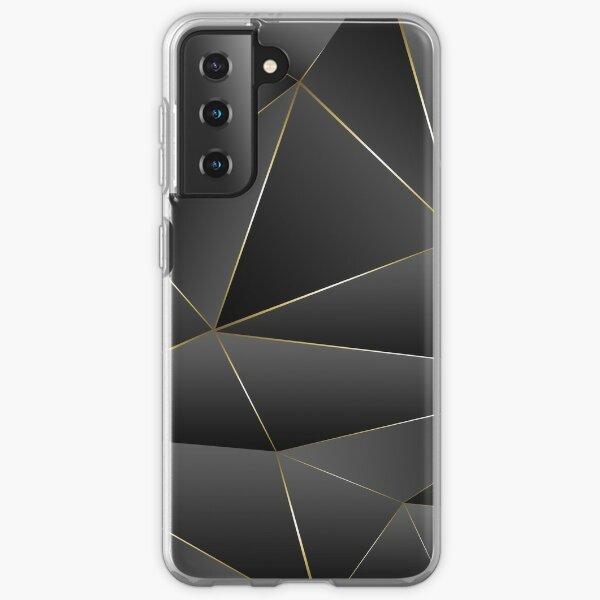 Gold, Black, and Gray Geometric Pattern Samsung Galaxy Soft Case