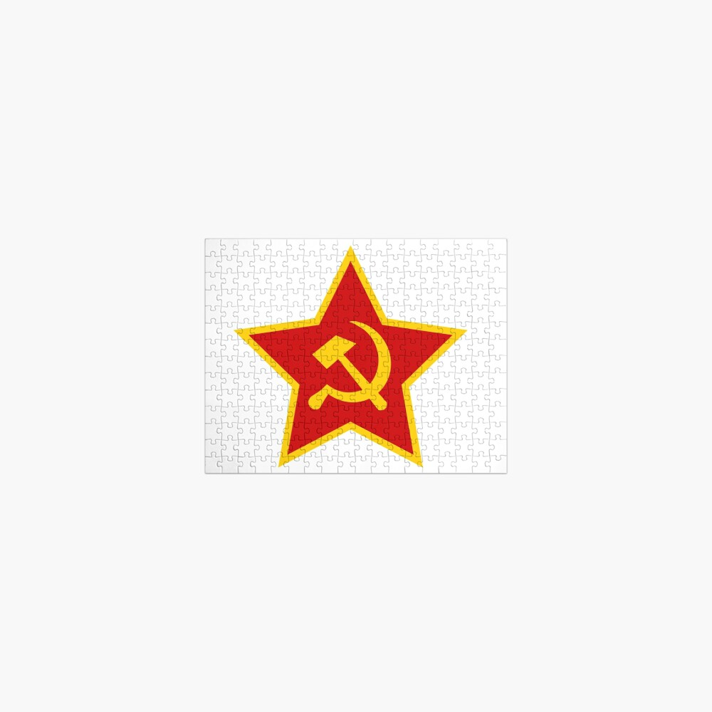 Soviet Red Army Hammer and Sickle Jigsaw Puzzle