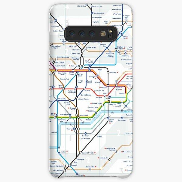 London Underground Tube Map Samsung Galaxy Snap Case