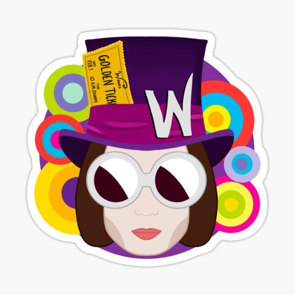 Willy Wonka - Charlie und die Schokoladenfabrik Glänzender Sticker