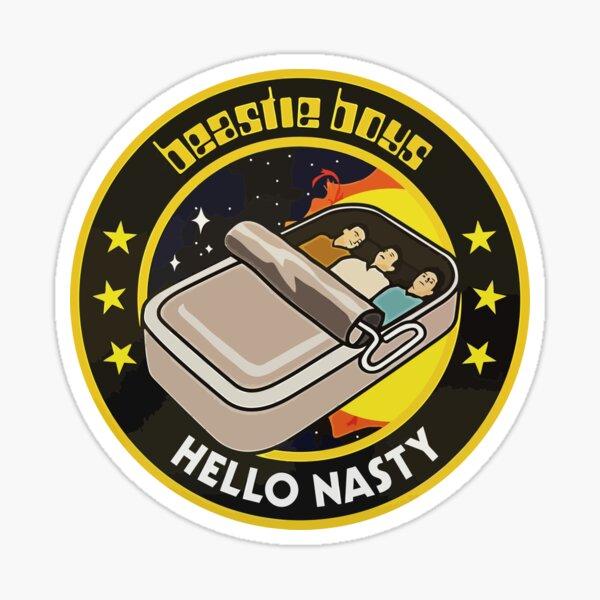Hello Nasty The Beastie Rap Rock Sardine Boys Sticker