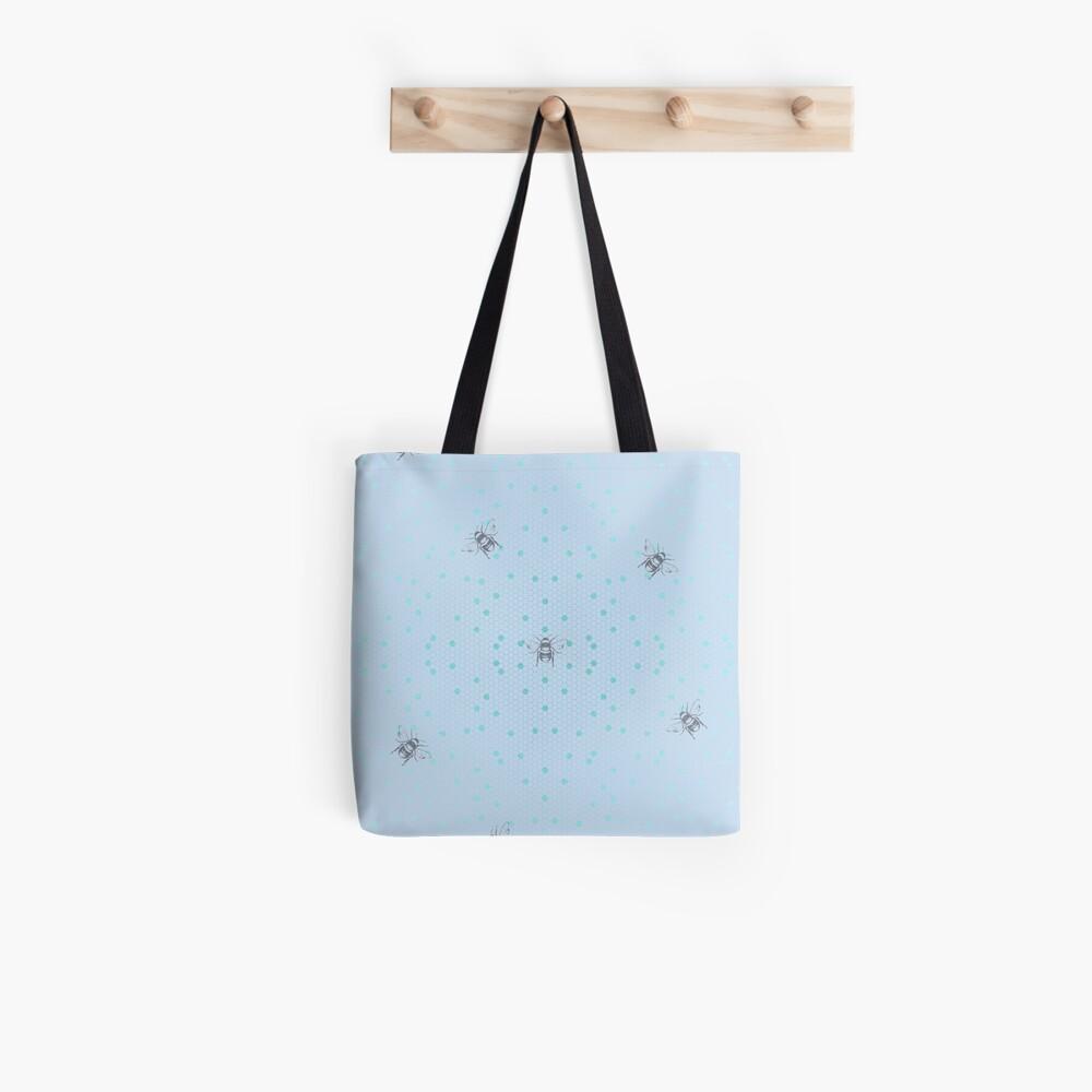 Blue Honeycomb Tote Bag